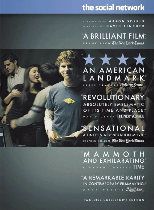 Film: The Social Network On DVD and Blu-Ray January 11